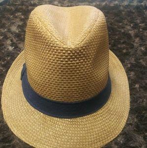 Men's Straw Fedora Hat Old Navy NWOT sz L/XL